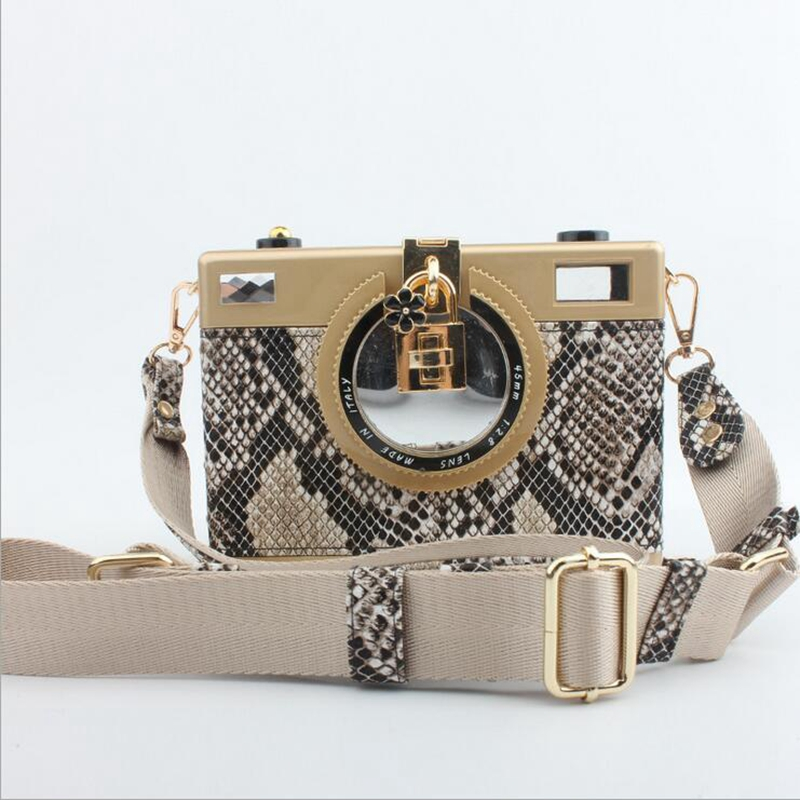 Fashion European Style Women Vintage Camera Evening Bag Party Dinner Clutches Female Lady Mini Crossbody Shoulder Messenger Bags