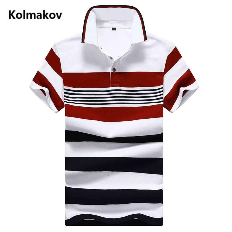 2019 summer Men's fashion turndown collar   Polo   shirts Mens high quality short sleeves stripe   Polo   shirt men size M-4XL