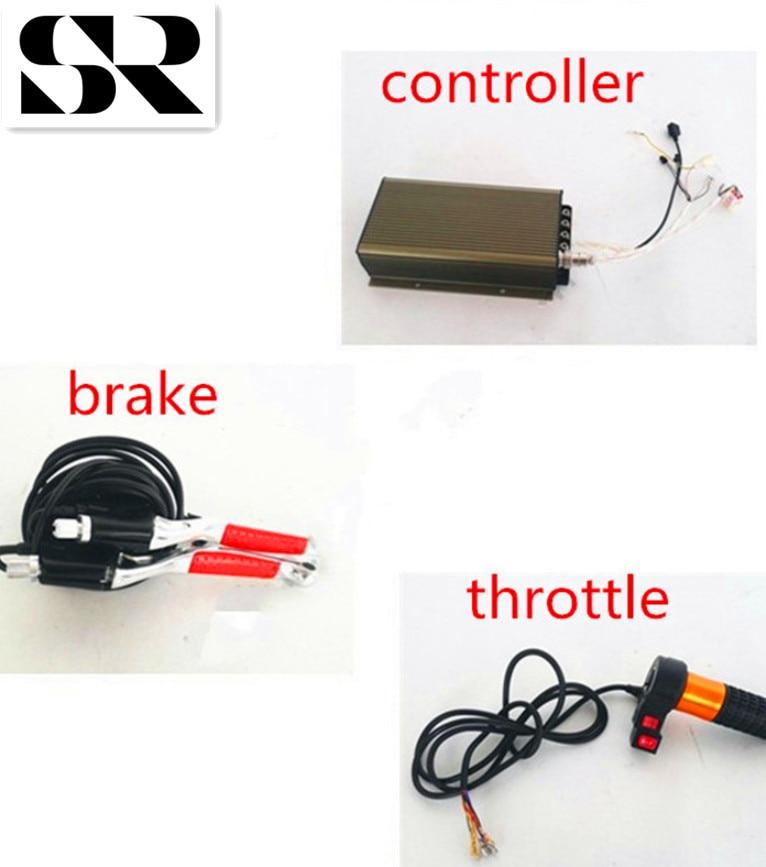 BLDC 96V 120A 5.5KW Programable sine wave controller/DC motor controller/electric bike controller