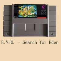 EVO-Buscar la tarjeta de juego Edén 16 bits grande gris
