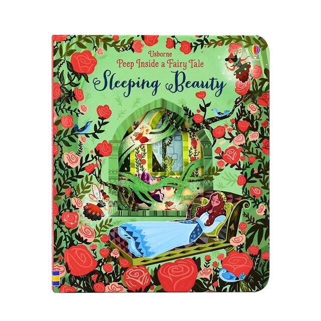 Peep Inside Sleeping Beauty libros de fotos educativos en inglés para bebés regalo de la primera infancia niños libro de lectura