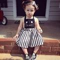 Hot sale Toddler girls Dress kids Casual Vest Dresses baby girl clothing Children Cute cat Stripe Summer/Autumn Dress