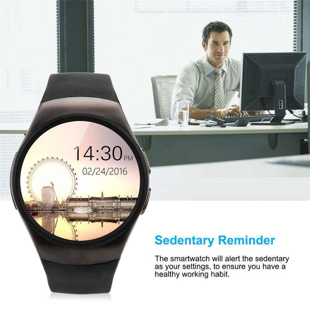 2016 New Product KW18 Smart Watch Android IOS Digital watch Bluetooth Reloj Inteligente SIM Round Heart Rate Monitor Watch Clock18