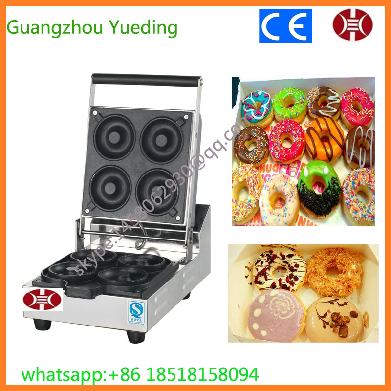 Electric baking pan commercial donut making machine automatic cake making machine  automatic commercial plum donut baking machine cake sweet donuts maker