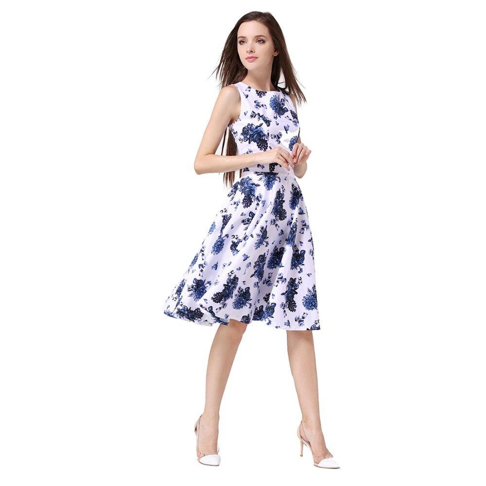 Buenos Ninos női nyári Rockabilly ruha nyomtatott virágköpeny - Női ruházat
