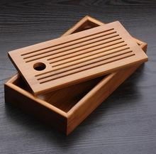 New crafts Kung fu tea portable small bamboo tea tray wood tea tray pallet bamboo tray free shipping tray 22cm*12cm*4cm