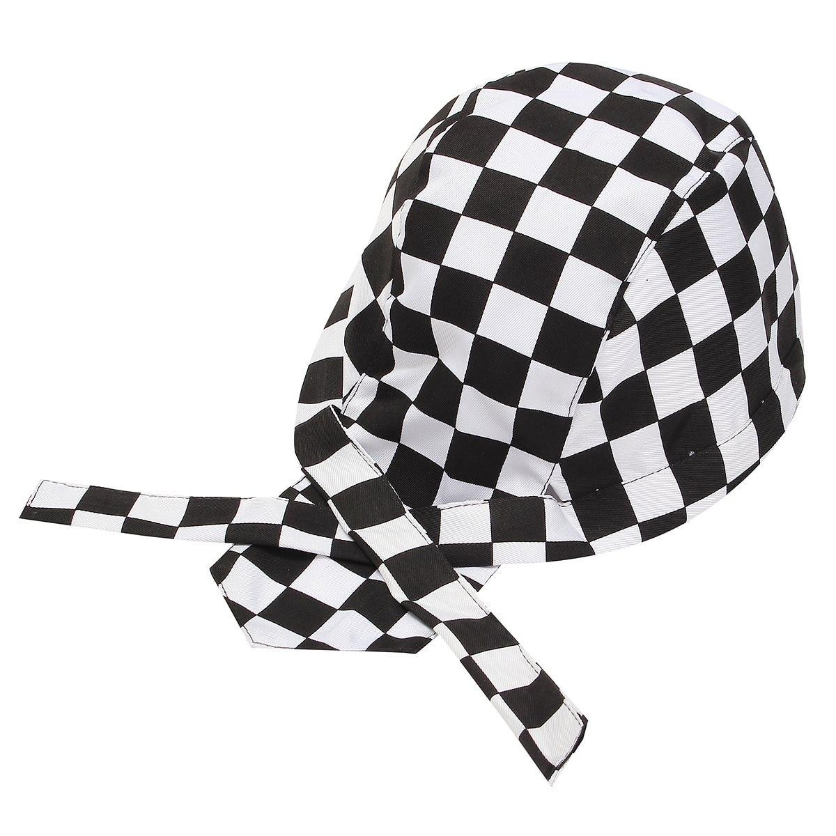 1 PCS Pirate Unisex Colorful Chef Hat Cap Cooking Cap Cloth Plaid Striped Plain Restaurant Waitress Hat Outdoors Sport Cap