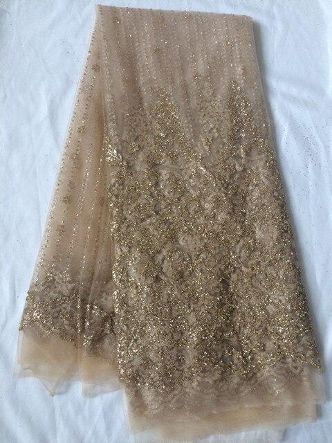 Ausgezeichnete abendkleid material gold glitter Französisch tüll ...