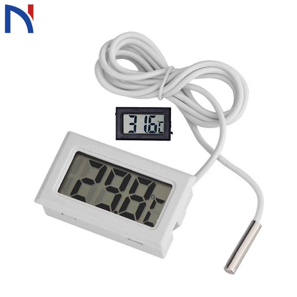 Digital Thermometer Fridge Freezer Temperature Meter Mini Portable ConvenientLCD Refrigerator Freezer Fridge Digital Thermometer