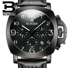 2017 Швейцария luxury мужские часы БИНГЕР бренд кварцевые Наручные Часы многофункциональный военная Stop glowwatch Diver часы B9015-4