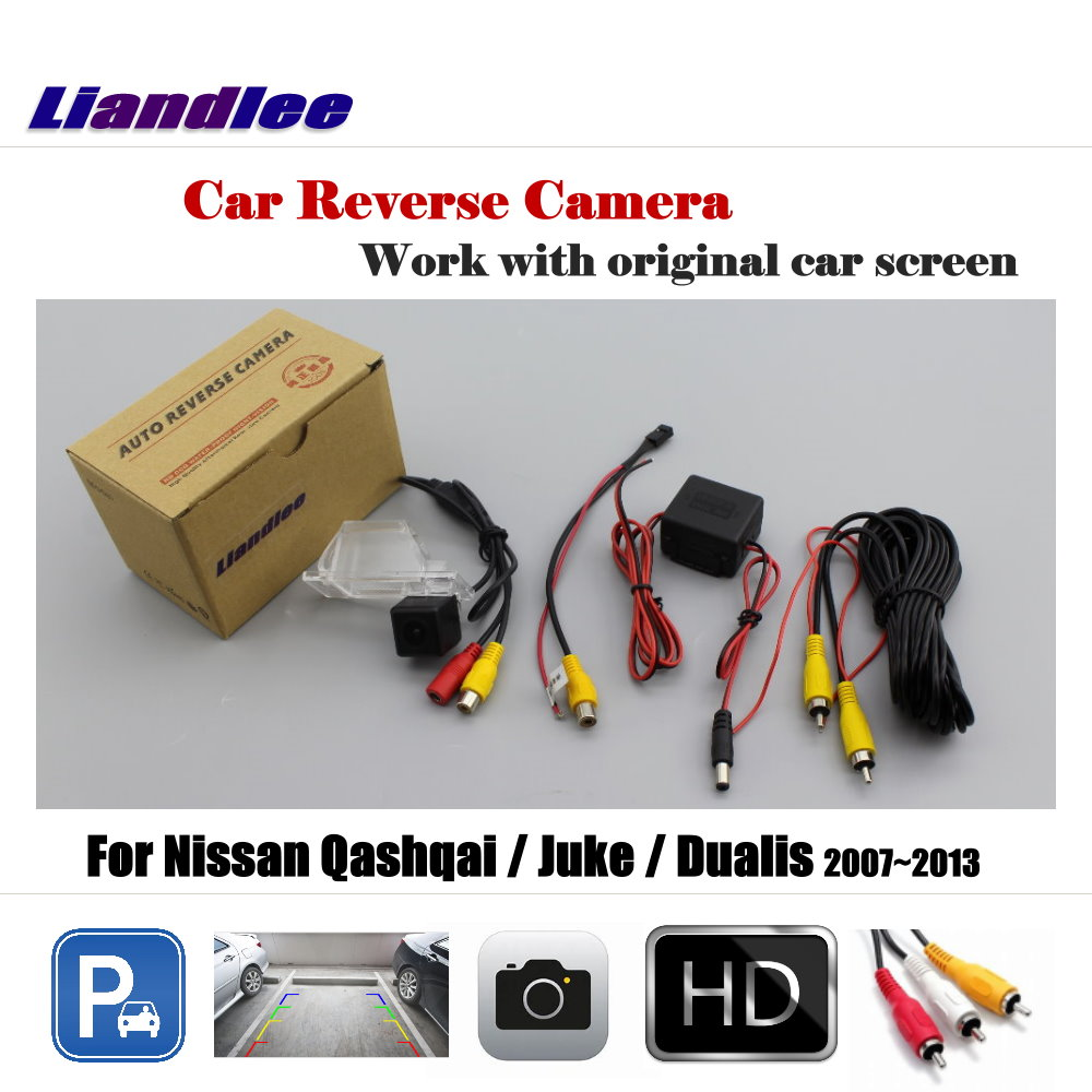 Liandlee Car Reverse Rearview Camera For Nissan Qashqai / Juke / Dualis 2007~2013 Original Screen Backup Parking Camera