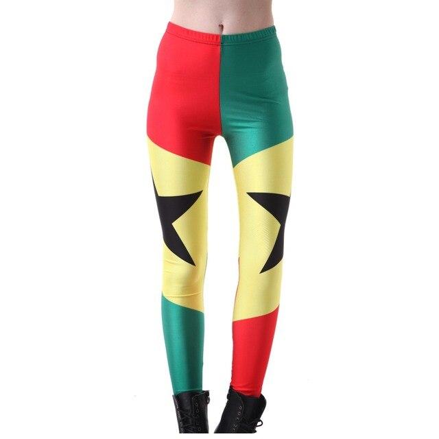 b5b1e22a0c2f5 Elastic Casual Pants 3D Digital Printing Flag of Ghana Pattern Women  Leggings 7 sizes Fitness Clothing Free Shipping