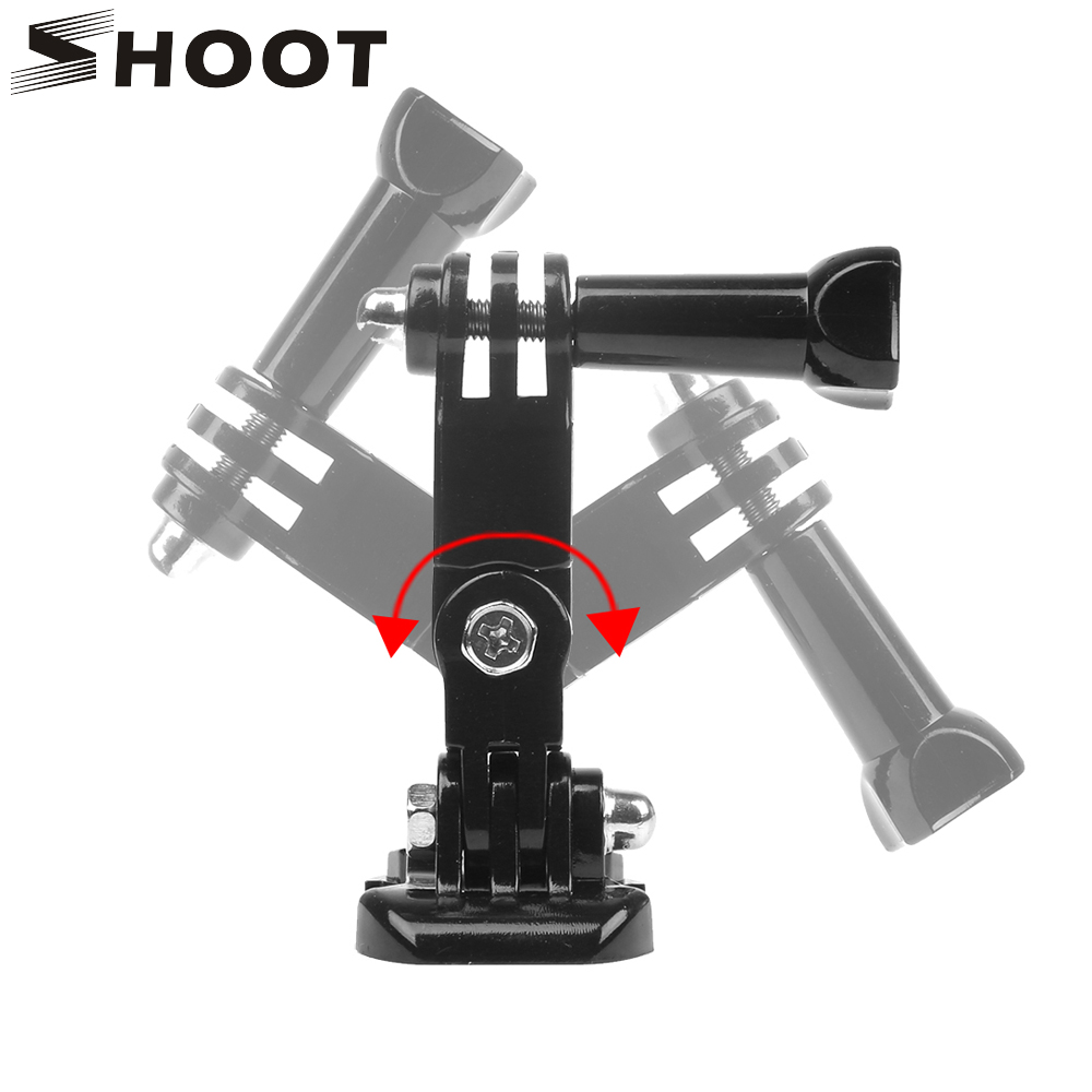 SHOOT 3 Way Adjustment Base Mount Pivot Arm Adapter For GoPro Hero 7 6 5 Black Xiaomi Yi 4k Sjcam Sj4000 Action Camera Accessory