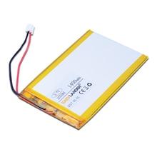 255085 3.7 V 1400 mAh batería Del Polímero de Li-ion Para Tablet pc MP4 MP5 Navigator GPS PDA Ipaq teléfono grabadora de Tráfico E-book conector