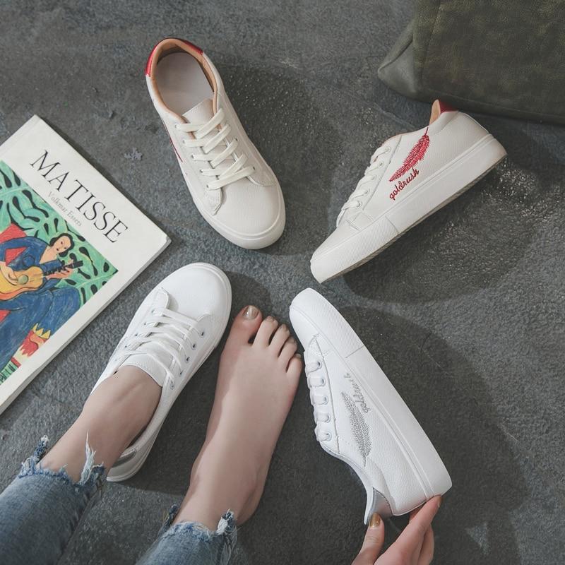 Casual Femelle La Toile argent Nouvelle Plat Printemps Belle De Coréenne Version Étudiants Rouge Chaussures Rétro Sauvages Blanc qSE6R