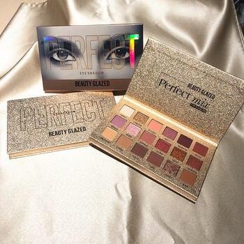 Beauty Glazed 18 Color Nude Shining Eyeshadow Palette Makeup Glitter Pigment Smoky Eye Shadow Pallete Waterproof Cosmetics 4