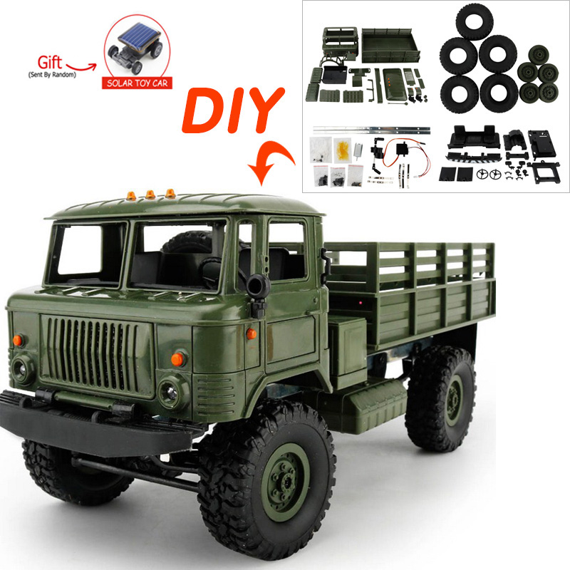16 DIY 4WD Off Road RC Truck Toys Remote Control Car Toys Military Truck Wheel Drive Machine for Radio Control RC Crawler Car