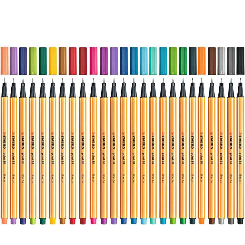 1pc Stabilo Point 88 Fineliner 0.4 Mm Felt Tip Pen Professional Line Art Marker For Drawing Liner Illustration Sketch Pen Design