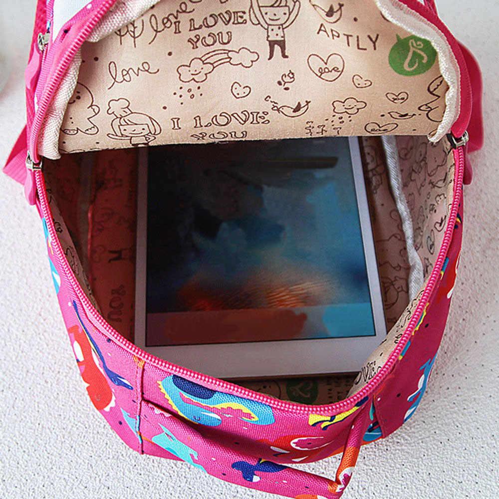 С принтом динозавра нейлоновые Детские рюкзаки сумки для детского сада, школы рюкзаки для маленьких мальчиков и девочек ясельного возраста милый рюкзак