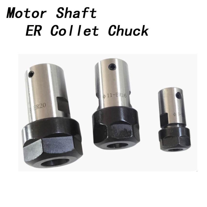 ER20 collet Motor shaft Chuck ER ER11 ER16 ER25 ER32 spindle Extension Rod tool holder CNC Milling drill chuck B10 12 18 JT2 6 cnbtr er16a 6mm motor shaft collet chuck holder tool cnc lathe milling part