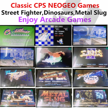 Build in 1393 games Portable Game Console Simulator game machine CPS NEOGEO SGEA SNES arcade Street Fighter KOF Metal Slug