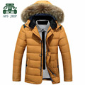 AFS JEEP Fur Collar White Duck Down & Feather Dress Coat,casual Men's Brand Thickness Cargo Overall Coat,Motorcycle Long Jacket