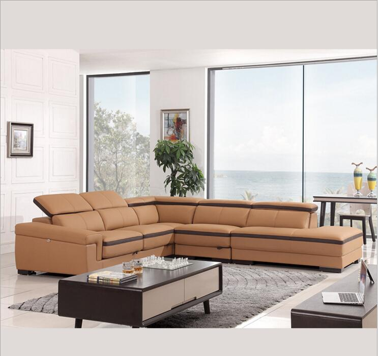 цена modern style living room Genuine leather sofa a1287