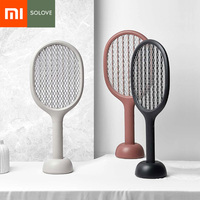 Xiaomi Mijia Solove P1 Electric Mosquito Swatter Insect Bug Fly Mosquito Dispeller 360nm UV Double Size Anti electric Shock Net