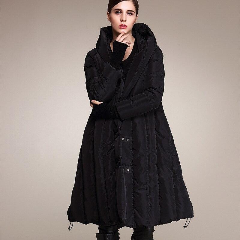 Style Mode Femmes Noir Manteau vert D'hiver Longue gris Grande De Long rouge Genou Taille Épais Nouveau Duvet Ceciliayu 2018 Lâche Doudoune qxSF4tn
