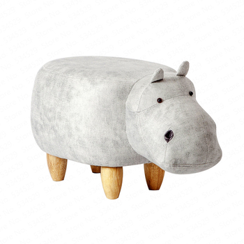 1B2 Animal stool dinosaur stool children's furniture cartoon chair change shoe stool solid wood creative modern Nordic furniture