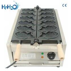 Commercial 6 pcs  fish shape Taiyaki machine/commercial mini taiyaki Making Machine / Korean taiyaki waffle maker machine
