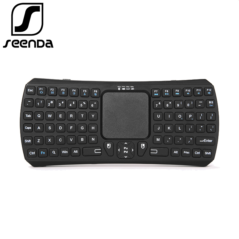SEENDA Brand Mini Bluetooth 3.0 Wireless Keyboard Handheld Remote Control Mouse Touchpad Keyboards Stand for IOS Windows Andriod