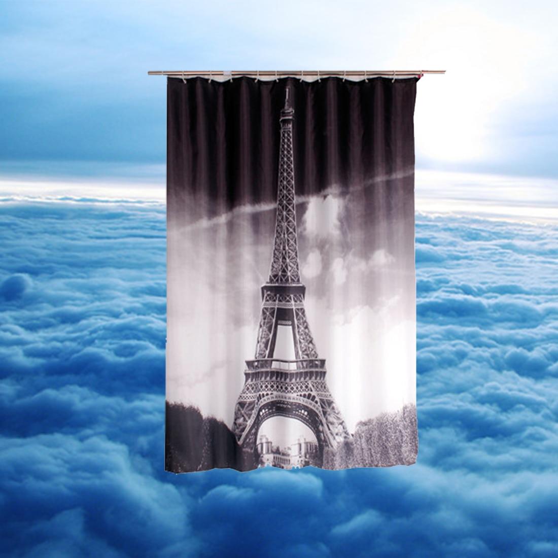 Fabric paris shower curtain - Paris Shower Curtains Design Water Resistance Fabric Polyester Waterproof Home Bathroom Curtains 1pcs 180 180cm
