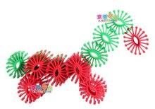 JingQi plastic toy baby birthday gift ellipse oval gear shape DIY building block educational blocks1 bag free shipping