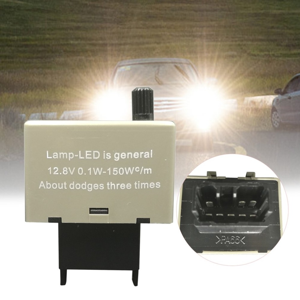 8Pin Adjustable Relay YUNPICAR CF18 8-Pin LED Turn Signal Light Electronic Adjustable Flasher Relay For Lexus Scion or Toyota Car