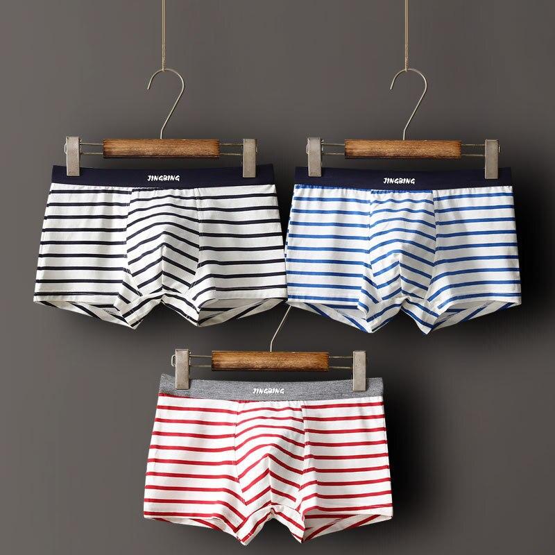 9 Group Style Men Underwear Boxers Fashion Striped Cotton Mens Boxer Underwear Brand Clothing Men Underwear Shorts 3pcs/lot