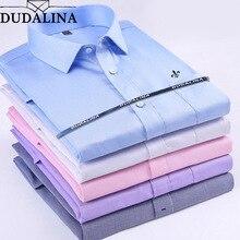 Dudalina Men Shirts Social 2019 Brand Spring Formal Non Iron Dress Shirt Solid Long Sleeve Business Fashion Mens Shirts