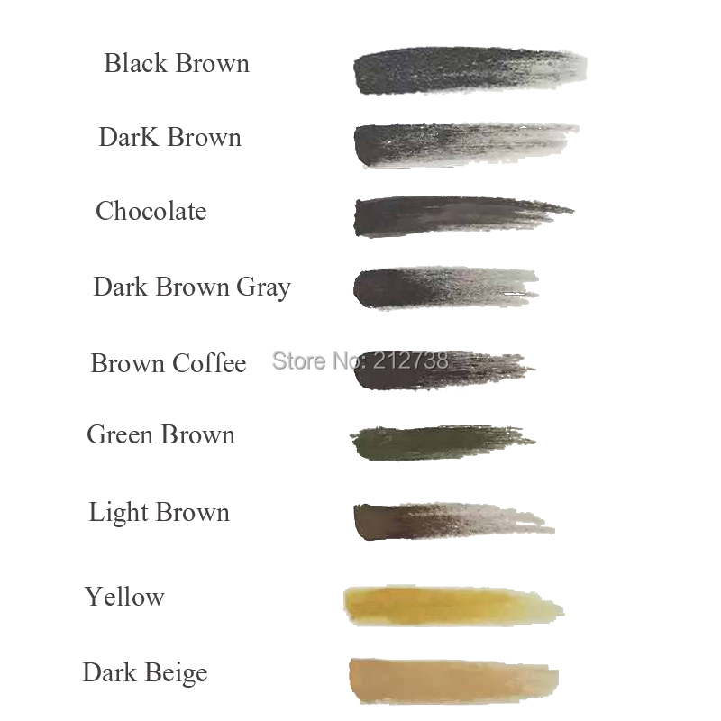 2Pcs JS Beautiful 2 Colors Square Bottles 3D Effect Professional Permanent Makeup Eyebrow Lip Tattoo Ink Pigment Free Shipping 15