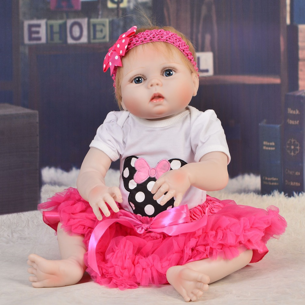 Full silicone 2357cm Reborn babies doll baby reborn handmade dolls bonecas Toys birthday Xmas gifts collection hot sale girlsFull silicone 2357cm Reborn babies doll baby reborn handmade dolls bonecas Toys birthday Xmas gifts collection hot sale girls
