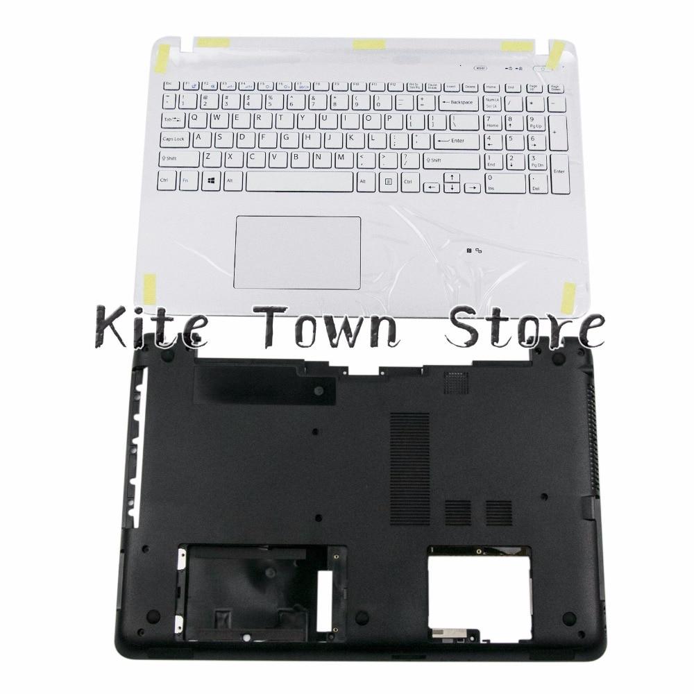 New Uppoer Palmrest & Bottom Case Cover For Sony Vaio SVF152 SVF153 US Keyboard White W Touchpad 3PHK9PHN040 4VHKDBHN000 все цены