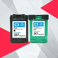 متوافقة ل HP 343 337 خرطوشة حبر ل HP337 343 ل HP Photosmart 2575 8050 C4180 D5160 منضدية 6940 D4160|خراطيش الحبر|   -