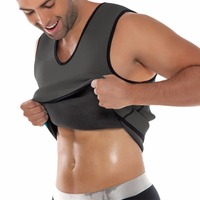 Mens Sport Slimming Ultra Sweat Body Shapers Weight Loss Workout Waist Trainer Neoprene Vest Cincher Waist