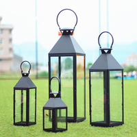 Retro Candle Holder Wedding Centerpieces Christmas Metal Lantern Home Metal European Style Wind Wrought Iron Moroccan Decor XX