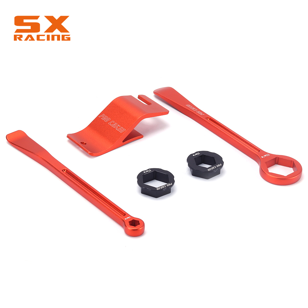 Tyre Iron Set Changing Tool Kit Raceline Tire Lever Hex Wrench Spanner Head Bead Holder For KTM EXC XC XCF XCFW SX SXS SXF SMR