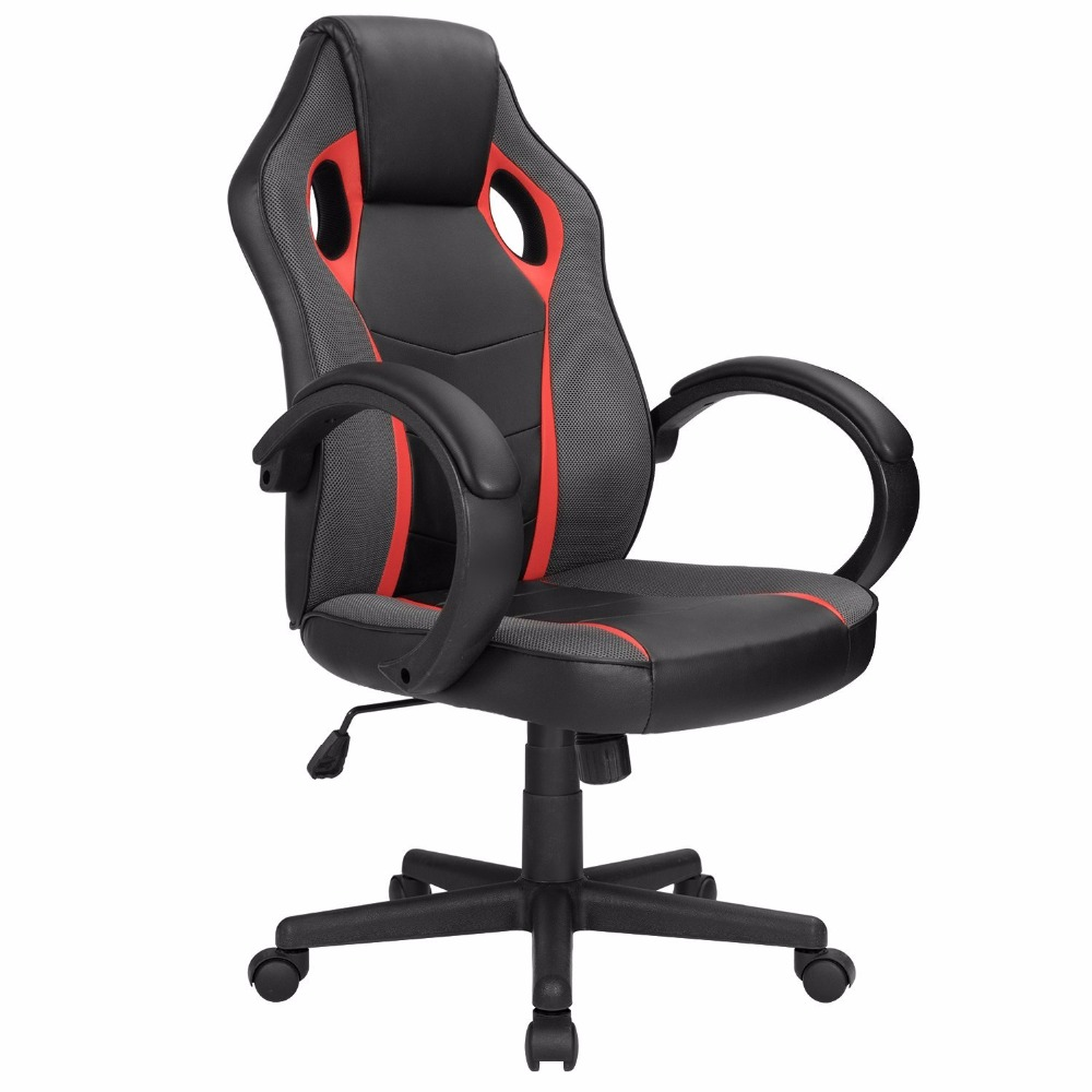 Homall Computer Gaming Chair Executive Swivel Office Chair Racing Style Mesh Desk Chair PU Leather Task Chair Bucke small computer chair the household contracted student chair desk chair is small 009