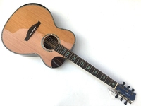 high quality full shell binding acoustic electric guitar with free case free shipping