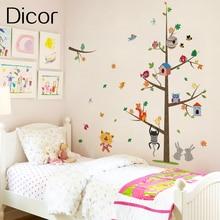 Diy Splice Cartoon Wall Decals Decor Brand Sticker Tree Kids Room In Paper Gift For Children
