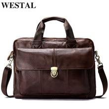 c83013bdb75 WESTAL Messenger Bag mannen Lederen mannen schoudertas Laptop mannen mode  Aktetas Handtassen crossbody tas voor mannen