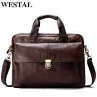 WESTAL Messenger Bag men Genuine Leather men's shoulder bag Laptop Men's fashion Briefcase Handbags crossbody bag for men 315