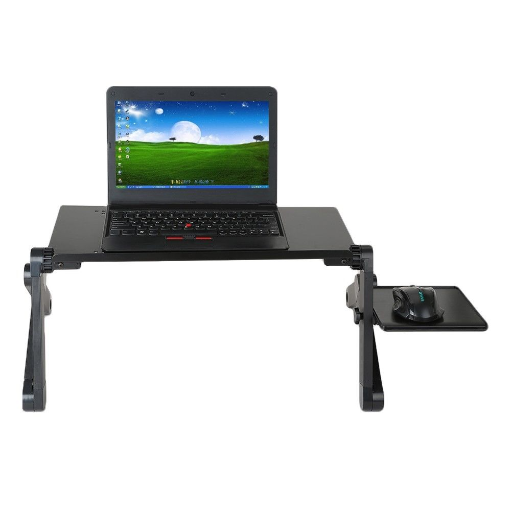 Portable Folding Aluminum Alloy Laptop Computer Notebook Table Laptop Stand Desk Bed Tra ...